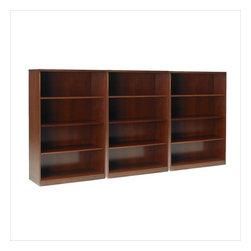 Mayline - Mayline Stella 4-Shelf Wall Bookcase in Toffee - Mayline - Bookcases - SKB4TOFPKG - Mayline Stella 4-shelf bookcase in Toffee (included quantity: 3)
