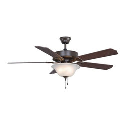 "Fanimation - Fanimation Aire Decor 225 52"" 5 Blade Ceiling Fan - Blades, Bowl Light Kit, and - Included Components:"