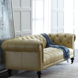 Fenway Tufted Leather Sofa -
