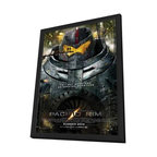 Pacific Rim 11 x 17 Movie Poster - Style A - in Deluxe Wood Frame - Pacific Rim 11 x 17 Movie Poster - Style A - in Deluxe Wood Frame.  Amazing movie poster, comes ready to hang, 11 x 17 inches poster size, and 13 x 19 inches in total size framed. Cast: Brad William Henke