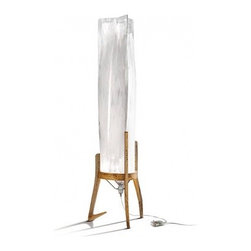 """Slamp - Battista Floor Lamp - Product description:  The Battistafloorlamp from Slamp was designed by Nigel Coatesin 2011. This contemporary floor lamp has a Cristalflex shade with a wood base. The Battisacts asasculpture when not on, but once it is turned on it becomes a lighted sculpture. Perfect for any contemporary decor.    Details:                                Manufacturer:                            Slamp                                                            Designer:                            Nigel Coates                                                Made in:                            Italy - special imported - not returnable                                                Dimensions:                            Width:19.7""""(50 cm) X Height: 63"""" (160cm)                                                 Light bulb::                            1X 100W E26 Halogen                                                Material:                                                                                                                        Cristalflex, Wood"""