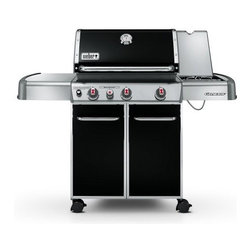 Weber - EP-330 Genesis Gas Grill - Special Edition | Black | 6631301 | NG - 6631301 EP-330 Weber Genesis Natural Gas Grill - Black - Special Edition This Weber Gas Grill Genesis EP-330 features an enclosed cart with corresponding painted steel doors with stainless steel trim stainless steel handles and accent colored painted side and rear panels.  Standard Features: