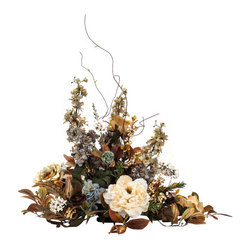 Brown Silk Flower Centerpiece