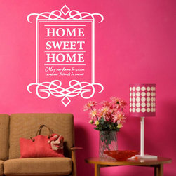 ColorfulHall Co., LTD - Home Decor Wall Home Sweet Home , White - Home Decor Wall Home Sweet Home