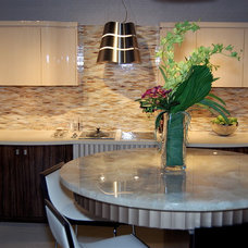 Eclectic Kitchen by NEFF of Chicago Custom Cabinetry and Design Studio