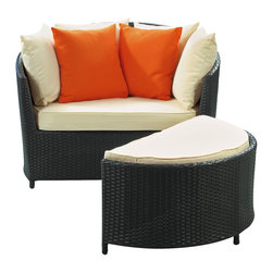 Robin Outdoor Patio Lounge Chair - Begin with a kernel of connectivity to bridge deep-seated potential with subsequent expression. Emerge in total control of natural senses and exhibit the essence of full-bodied productivity. The Robin's Nest Outdoor Lounge Chair and Ottoman Set is a motivating tour de force at each twist and turn.