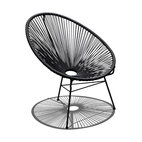 Acapulco Patio Chair, Jet Black