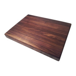 Armani Fine Woodworking - Edge Grain Walnut Butcher Block - Armani Fine Woodworking Edge Grain Walnut Butcher Block Cutting Board