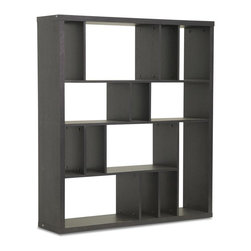 Wholesale Interiors - Modern Wooden Bookshelf - Moderate size suitable for books and decorative objects