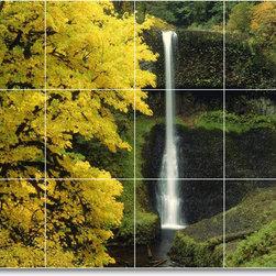 Picture-Tiles, LLC - Waterfalls Photo Kitchen Tile Mural W083 - * MURAL SIZE: 18x24 inch tile mural using (12) 6x6 ceramic tiles-satin finish.