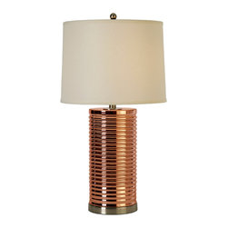 Trend Lighting - Arctica Table Lamp, Rose Gold Glass - -120 Volts