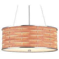 Lamp Shades Basquet Drum Pendant by Forecast Lighting