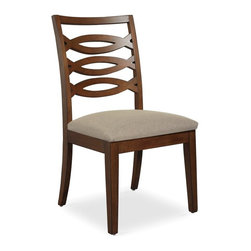 Somerton Home Furnishings - Somerton Claire de Lune Wood Back Side Chairs - American Cherry - Set of 2 Multi - Shop for Dining Chairs from Hayneedle.com! With the same flirty curved peak-through design as the matching table these Claire de Lune Wood Back Side Chairs American Cherry accent a transitional table perfectly. Each features hardwood construction a rich wood finish and versatile vanilla cream upholstery. Pair them on your own or add to a Somerton Claire de Lune collection dining table. The Claire De Lune collection from Somerton is a truly tremendous achievement in transitional style. Balancing the old with the new with aplomb and ease seen nowhere else these pieces are built of American cherry with cherry and walnut veneers with inlaid geometric patterns and stylish silver hardware. The lines are soft and sweeping but the upgrades are serious full-extension drawer glides English dovetails stained and finished inside birch drawers and built-in plugs. To clean use only a dry or damp cloth no oil-based cleaners. About Somerton Home FurnishingsFor over 20 years Somerton has meant quality furniture and a quality company. Its warehouses and distribution centers located both in the United States and China provide environmentally friendly manufacturing locations as well as mindful employment spaces. Top-of-the-line materials such as eco-friendly rubberwood solid wood and wood veneers are used to create Somerton pieces. Any Somerton furnishing you choose will make a welcome stylish addition to your home.