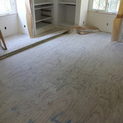 Before 2 - Before 2: second floor existing plywood subfloor