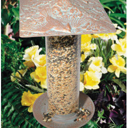 "Whitehall Products LLC - 12"" Cardinal Tube Feeder - Copper Verdi - Features:"