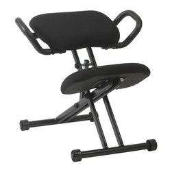Eurostyle - Harold Knee Chair-Blk/Blk - This ergonomic knee chair not only helps reduce lower-back strain, but it helps inspire proper posture while you work. Completely durable and comfortable, it's here to help take some of the stress out of your day.