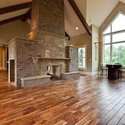 """Acacia Hardwood Flooring New hardwood Flooring - SmartExotics.- 1/2"""" x 5"""" Tobacco Road Acacia Blonde (natural) Prefinished Handscraped Engineered Flooring- 30 Year Warranty"""