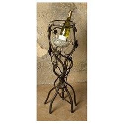 Wrought Iron Vineyard Wine Chiller - Floor -