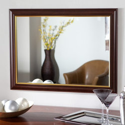 Decor Wonderland - Milan Large Framed Wall Mirror - 23.6W x 31.5H in. Multicolor - SSM27 - Shop for Bathroom Mirrors from Hayneedle.com! The Milan Large Framed Wall Mirror is the perfect mix of classic and modern making it perfect for almost any decor. You'll love the wooden frame that adds depth to this mirror that will look great in any room or hallway. Made of strong .19-inch-thick glass and metal with double coated silver backing with seamed edges this mirror is very durable. Mounting hardware is included and the mirror comes ready to hang vertically or horizontally.About Decor Wonderland of USDecor Wonderland US sells a variety of living room and bedroom furniture mirrors lamps home office necessities and decorative accessories. Decor Wonderland strives to add variety to their selection so that every home is beautifully and perfectly decorated to suit their customer's unique tastes.