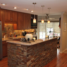 Eclectic Kitchen by Paulson's Construction, Inc