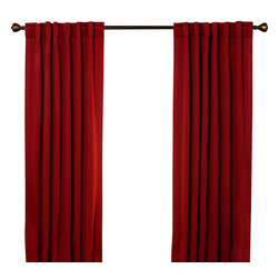 "Best Home Fashion - Solid Backtab Thermal Insulated Blackout Curtains - 1 Pair, Cardinal Red, 72"" - Best Home Fashion introduces the new Blackout Curtain. It features innovative fabric construction. Compared to other curtains, our product is extremely SOFT and DRAPERY. The sophisticated designs allow you to decorate your windows with great style. NEVER compare our Blackout Curtains with those cheap ones that are stiff and look like a shower curtain. Blackout is perfect for : Late sleepers Shift workers Seniors Infants & parents Students Computer operators Care instruction : -Machine wash warm with like colors. -Use only non-chlorine bleach when needed. -Tumble dry low. -Warm iron as needed"