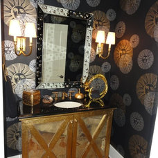 Eclectic Powder Room by Erika Bonnell Interiors