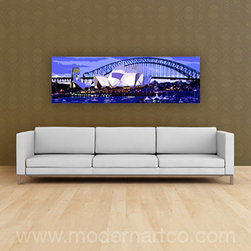 Long and Narrow - Custom made, gallery wrapped canvas