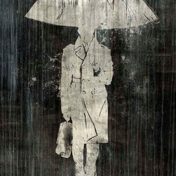 Man in the Rain Artwork - 36 x 48 Man in the Rain