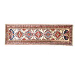 1800GetARug - Geometric Fine Kazak Runner Hand Knotted Rug Sh11146 - About Tribal & Geometric