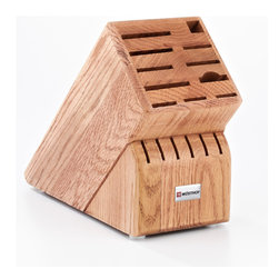 Wusthof - Wusthof 17-Slot Walnut Block - The Wusthof 17 slot storage block holds 2 cooks knives, 6 steak knives and the half moon slot will hold a shear, fork, or a knife. Safely store your knives in a safe and convenient storage block.