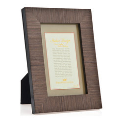 Philip Whitney - Philip Whitney 5X7 Fine Brown Grain Marque Frame - Philip Whitney 5x7 fine brown grain marque picture frame.