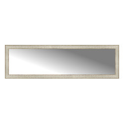 """Posters 2 Prints, LLC - 58"""" x 17"""" Libretto Antique Silver Custom Framed Mirror - 58"""" x 17"""" Custom Framed Mirror made by Posters 2 Prints. Standard glass with unrivaled selection of crafted mirror frames.  Protected with category II safety backing to keep glass fragments together should the mirror be accidentally broken.  Safe arrival guaranteed.  Made in the United States of America"""