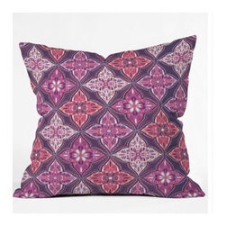 """DENY Designs - Khristian A Howell Provencal Lavender 5 Throw Pillow - Wanna transform a serious room into a fun, inviting space? Looking to complete a room full of solids with a unique print? Need to add a pop of color to your dull, lackluster space? Accomplish all of the above with one simple, yet powerful home accessory we like to call the DENY Throw Pillow! Features: -Khristian A Howell collection. -Top and back color: Print. -Material: Woven polyester. -Sealed closure. -Spot treatment with mild detergent. -Made in the USA. -Closure: Concealed zipper with bun insert. -Small dimensions: 16"""" H x 16"""" W x 4"""" D, 3 lbs. -Medium dimensions: 18"""" H x 18"""" W x 5"""" D, 3 lbs. -Large dimensions: 20"""" H x 20"""" W x 6"""" D, 3 lbs."""
