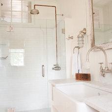 Beach Style Bathroom by allee architecture + design, llc