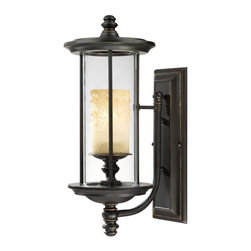 Savoy House - Chestatee Wall Mount Lantern, Medium - Almost like a museum piece, the light fixture of this lantern is exhibited on a base and beautifully encased. Its clear cylindrical structure provides you and other admirers with unobstructed viewing pleasure.