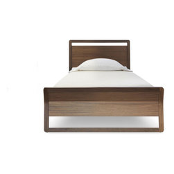 """Blu Dot - Blu Dot Woodrow Twin Bed, Walnut - """"Graceful lines meet gorgeous wood.   Available in smoke or walnut and four sizes (king, queen, full and twin)."""""""