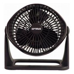 "OPTIMUS - OPTIMUS F-7071 7"" Turbo High-Performance Fan - Super turbo high-performance fan; Powerful 3-speed motor; Contemporary Euro-design styling; Variable tilt fan head pivots 90for use as an air circulator; Carrying handle & wall mount feature; Black"