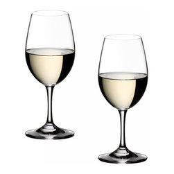 Riedel - Riedel Ouverture White Wine Glasses - Set of 2 - Introduced in 1989, OUVERTURE is Riedel's elementary entry level series for customers who appreciate good, reasonably priced wine and glassware. Ouverture is a non varietal specific collection of ten lead-free glasses, that will increase the owners drinking pleasure of wine, beer and spirits.  This stylish stemmed White Wine glass is designed to complement any table.
