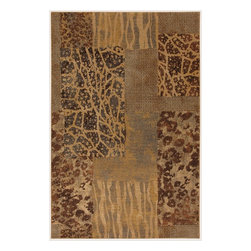 """Karastan - Carmel Santa Lucia Chestnut Animal Print Patchwork 9'6"""" x 12'11"""" Karastan Rug - Floral motifs, sophisticated graphic patterns and modern damasks take center stage in the Carmel collection. Styled for today's relaxed living these fashion inspired patterns feature color palettes that are decorator friendly and offer the consumer an easy decorating choice."""