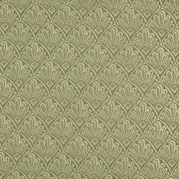 Light Green Two Toned Fan Upholstery Fabric By The Yard - P2011 is great for residential, and commercial applications. This fabric will exceed at least 35,000 double rubs (15,000 is considered heavy duty), and is easy to clean and maintain.