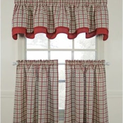 A.l. Ellis Inc. - Bristol Plaid Window Curtain Tier Pair - Give your kitchen's decor a classic look with charming appeal. These window treatments feature a bright two tone plaid pattern that instantly conveys a homey feel.
