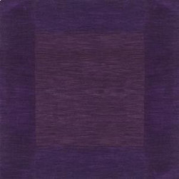"""Surya - Surya Mystique M-349 2'6"""" x 8' Plum Rug - Combining centuries old """"hand looming"""" techniques with the finest colors, we have created these crisp and casual designs. Handcrafted in India from 100% wool, teams of craftsmen work traditional shuttle looms to create these unique rugs. Each piece is then painstakingly hand finished, hand carved and detailed."""