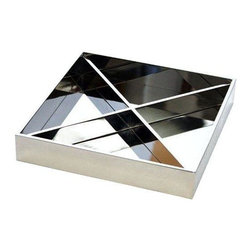 Gibson Studio Paris Valet Tray in Stainless Steel - This handmade valet tray is from Gibson Studio.  A showroom sample in polished stainless steel.  X is removable.  A great gift for the man who needs to get organized in style!