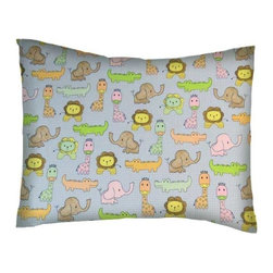 SheetWorld - SheetWorld Twin Pillow Case - Percale Pillow Case -Baby Animal Check - Pillow case is made of a durable all cotton percale/woven material. Fits a standard twin size pillow. Side Opening. Features a baby animal check links print.