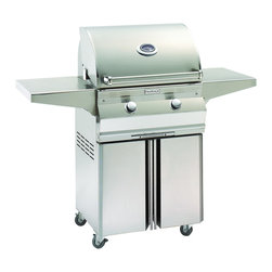 """Fire Magic - Fire Magic Choice C430s-1T1N-96 Cart Mount Gas Grill 24"""" - Heavy-gauge tubular stainless steel burners"""