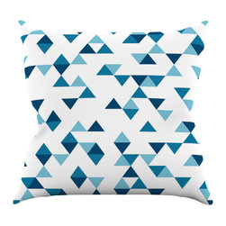 "Kess InHouse - Project M ""Triangles Blue"" Navy White Throw Pillow (20"" x 20"") - Rest among the art you love. Transform your hang out room into a hip gallery, that's also comfortable. With this pillow you can create an environment that reflects your unique style. It's amazing what a throw pillow can do to complete a room. (Kess InHouse is not responsible for pillow fighting that may occur as the result of creative stimulation)."