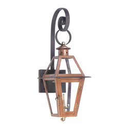 ELK - Elk Lighting 7927-WP Outdoor Gas Shepherd's Scroll Wall Lantern - Outdoor Gas Shepherd's Scroll Wall Lantern Grande Isle Collection In Solid Brass with an Aged Copper finish.