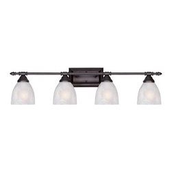 YOSEMITE HOME DECOR - 4 Lights Vanity in Oil Rubbed Bronze - Hardwire : Yes