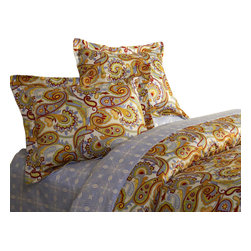 Jennifer Taylor Home - Queen 3 Pc Set, 1xDuvet - Dynasty 3 PCS Queen Duvet Set