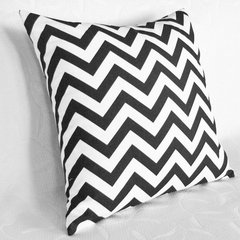 contemporary pillows Black and White Chevron Pillow